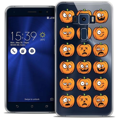 "Coque Crystal Gel Asus Zenfone 3 ZE552KL (5.5"") Extra Fine Halloween - Cartoon Citrouille"