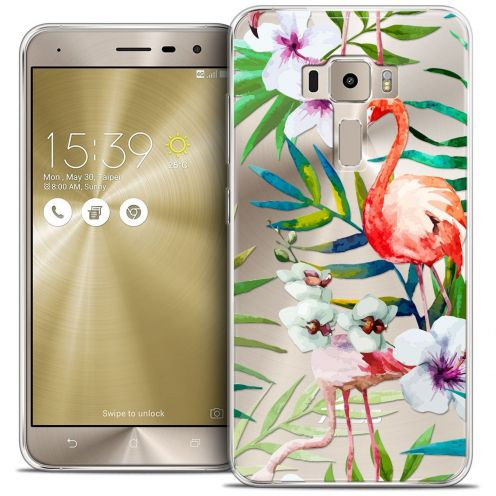 "Coque Crystal Gel Asus Zenfone 3 ZE552KL (5.5"") Extra Fine Watercolor - Tropical Flamingo"