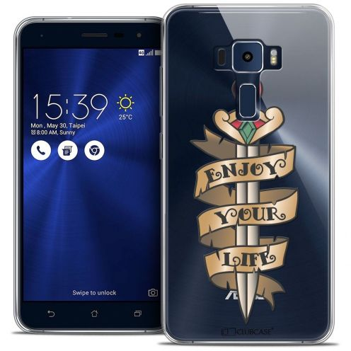 "Coque Crystal Gel Asus Zenfone 3 ZE552KL (5.5"") Extra Fine Tatoo Lover - Enjoy Life"