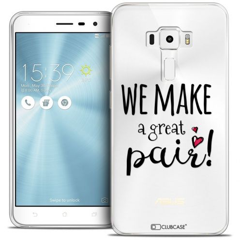 "Coque Crystal Gel Asus Zenfone 3 ZE552KL (5.5"") Extra Fine Love - We Make Great Pair"