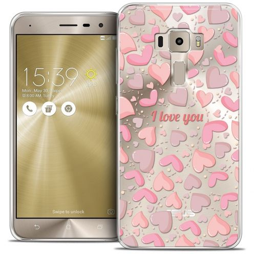 "Coque Crystal Gel Asus Zenfone 3 ZE552KL (5.5"") Extra Fine Love - I Love You"