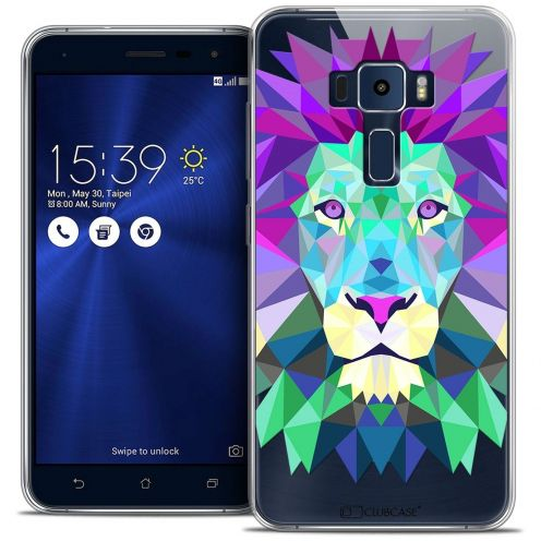 "Coque Crystal Gel Asus Zenfone 3 ZE552KL (5.5"") Extra Fine Polygon Animals - Lion"