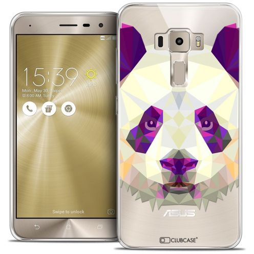 "Coque Crystal Gel Asus Zenfone 3 ZE552KL (5.5"") Extra Fine Polygon Animals - Panda"