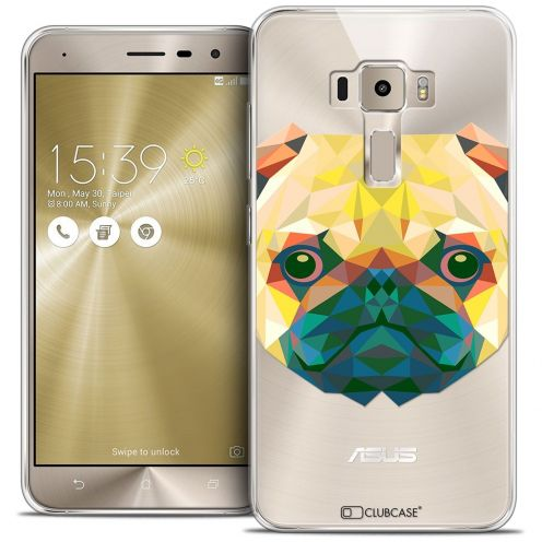 "Coque Crystal Gel Asus Zenfone 3 ZE552KL (5.5"") Extra Fine Polygon Animals - Chien"