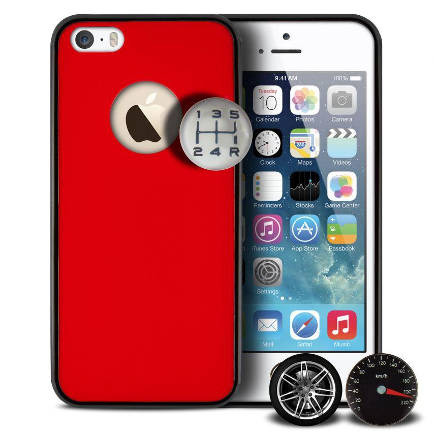 Vue Principale de Coque QDOS® Custom Buttons Rouge iPhone 5/5S