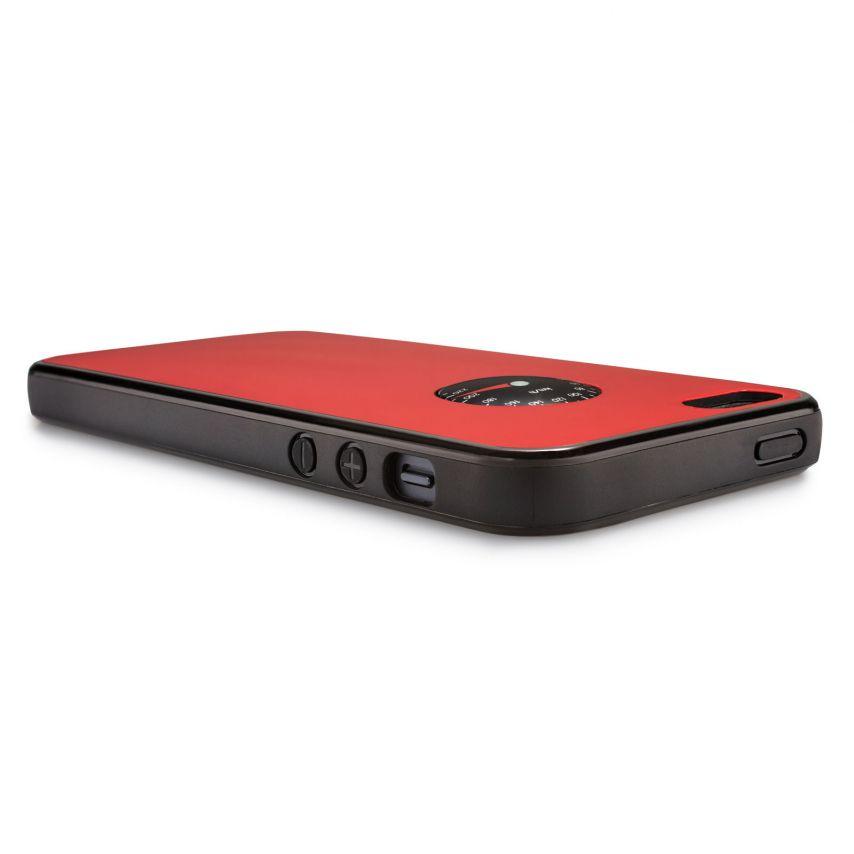 Vue détaillée de Coque QDOS® Custom Buttons Rouge iPhone 5/5S