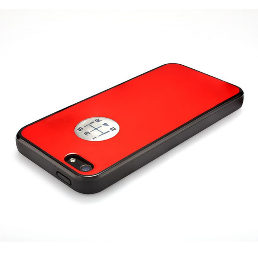 Zoom sur Coque QDOS® Custom Buttons Rouge iPhone 5/5S
