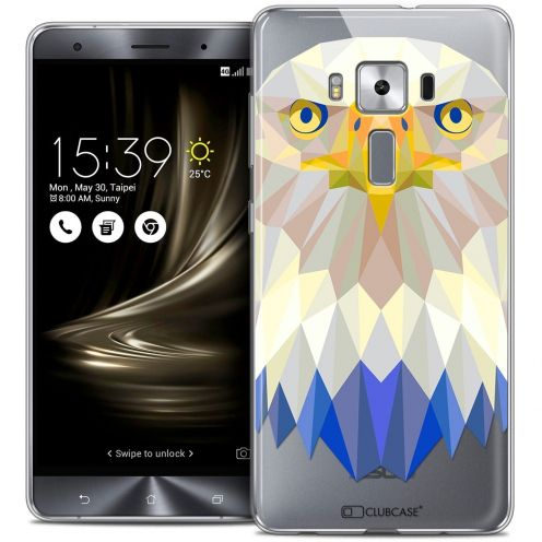 """Coque Crystal Gel Asus Zenfone 3 Deluxe ZS570KL (5.7"""") Extra Fine Polygon Animals - Aigle"""