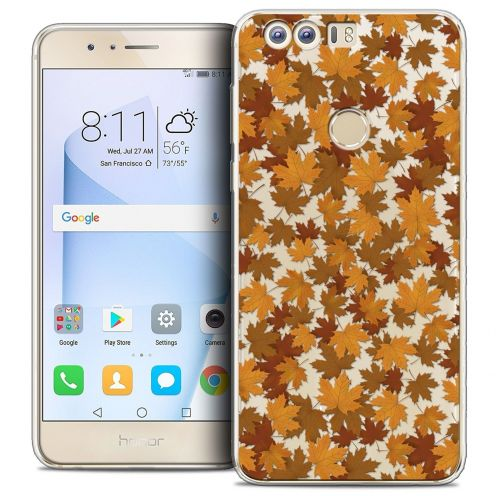 "Coque Crystal Gel Huawei Honor 8 (5.2"") Extra Fine Autumn 16 - Feuilles"