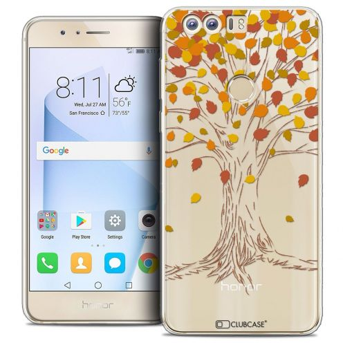 "Coque Crystal Gel Huawei Honor 8 (5.2"") Extra Fine Autumn 16 - Tree"