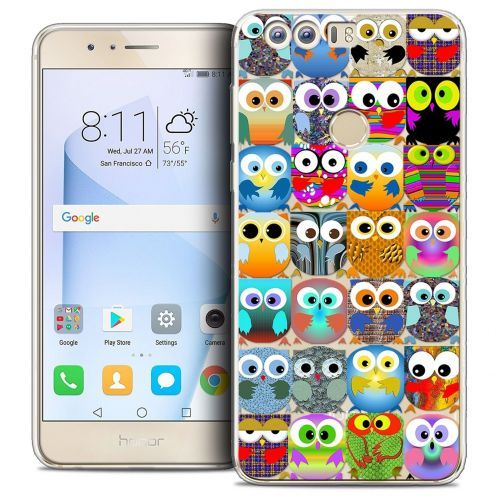 "Coque Crystal Gel Huawei Honor 8 (5.2"") Extra Fine Claude - Hibous"