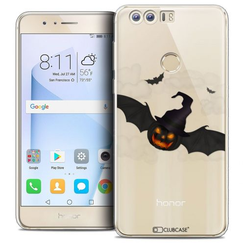 """Coque Crystal Gel Huawei Honor 8 (5.2"""") Extra Fine Halloween - Chauve Citrouille"""