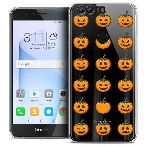 """Coque Crystal Gel Huawei Honor 8 (5.2"""") Extra Fine Halloween - Smiley Citrouille"""