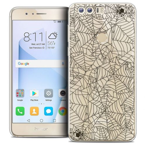 "Coque Crystal Gel Huawei Honor 8 (5.2"") Extra Fine Halloween - Spooky Spider"