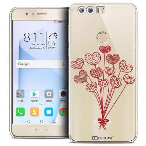 """Coque Crystal Gel Huawei Honor 8 (5.2"""") Extra Fine Love - Ballons d'amour"""