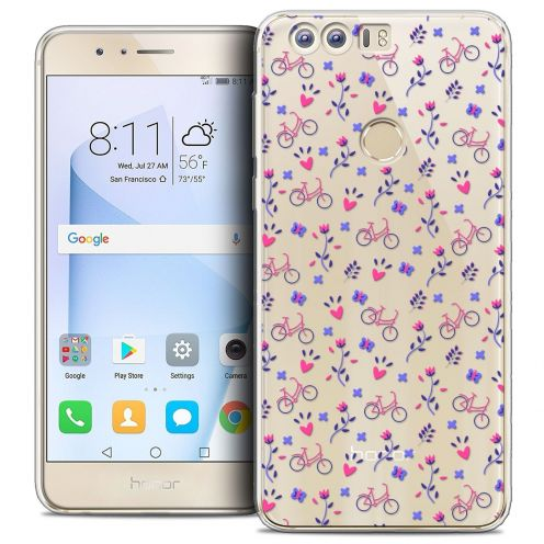 """Coque Crystal Gel Huawei Honor 8 (5.2"""") Extra Fine Love - Bicycle"""