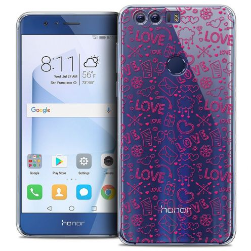 """Coque Crystal Gel Huawei Honor 8 (5.2"""") Extra Fine Love - Doodle"""
