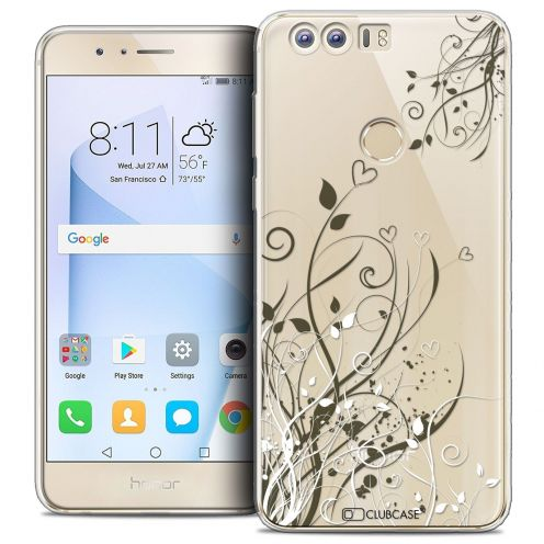 "Coque Crystal Gel Huawei Honor 8 (5.2"") Extra Fine Love - Hearts Flowers"