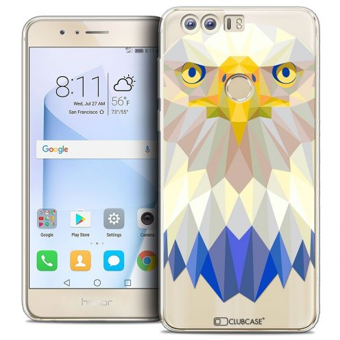 "Coque Crystal Gel Huawei Honor 8 (5.2"") Extra Fine Polygon Animals - Aigle"