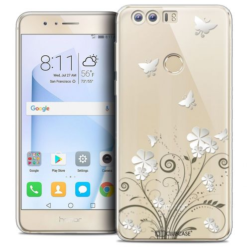 "Coque Crystal Gel Huawei Honor 8 (5.2"") Extra Fine Summer - Papillons"
