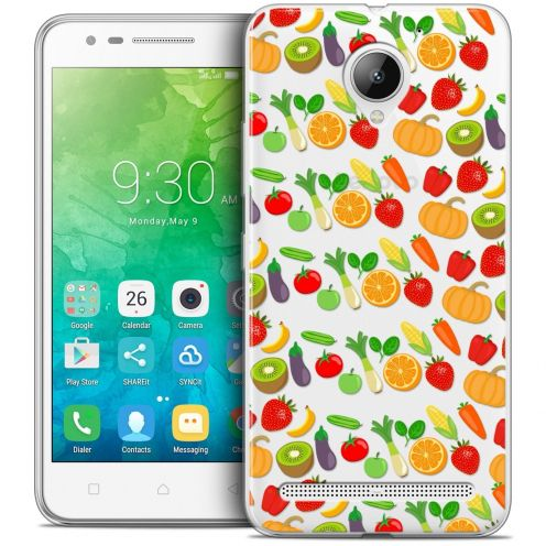 "Coque Crystal Gel Lenovo C2 K10A40 (5"") Extra Fine Foodie - Healthy"