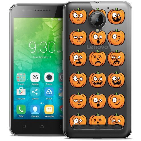 "Coque Crystal Gel Lenovo C2 K10A40 (5"") Extra Fine Halloween - Cartoon Citrouille"