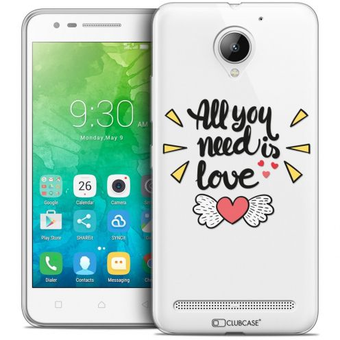 "Coque Crystal Gel Lenovo C2 K10A40 (5"") Extra Fine Love - All U Need Is"