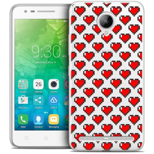 "Coque Crystal Gel Lenovo C2 K10A40 (5"") Extra Fine Love - Pixel Art"