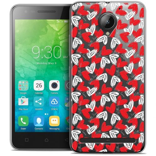 "Coque Crystal Gel Lenovo C2 K10A40 (5"") Extra Fine Love - With Love"