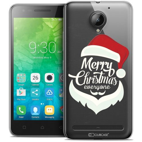 "Coque Crystal Gel Lenovo C2 K10A40 (5"") Extra Fine Noël 2017 - Merry Everyone"