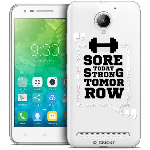 "Coque Crystal Gel Lenovo C2 K10A40 (5"") Extra Fine Quote - Strong Tomorrow"