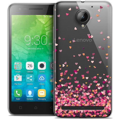 "Coque Crystal Gel Lenovo C2 K10A40 (5"") Extra Fine Sweetie - Heart Flakes"