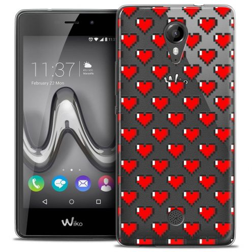 "Coque Crystal Gel Wiko Tommy (5"") Extra Fine Love - Pixel Art"