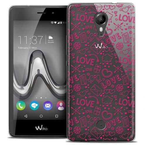 """Coque Crystal Gel Wiko Tommy (5"""") Extra Fine Love - Doodle"""
