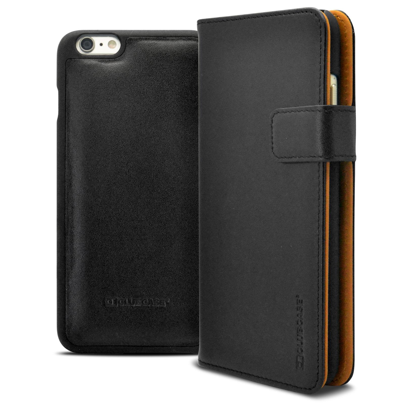 Housse portefeuille folio cuir v ritable pour iphone 6 for Housse portefeuille iphone 6