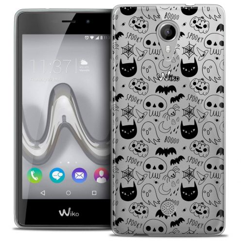 "Coque Crystal Gel Wiko Tommy (5"") Extra Fine Halloween - Spooky"