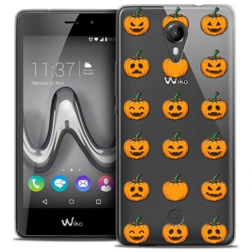 """Coque Crystal Gel Wiko Tommy (5"""") Extra Fine Halloween - Smiley Citrouille"""