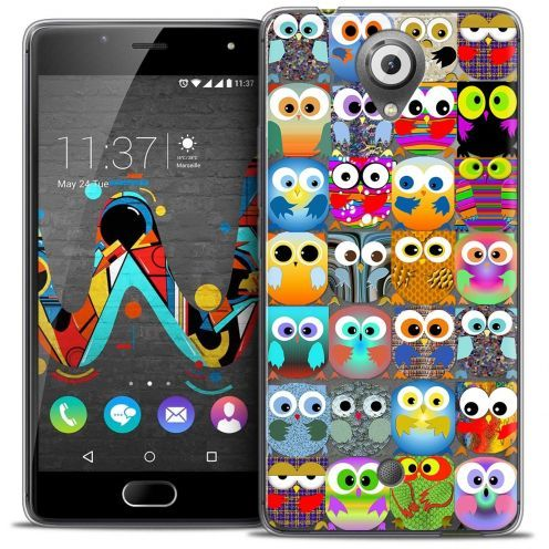 "Coque Crystal Gel Wiko U Feel (5"") Extra Fine Claude - Hibous"
