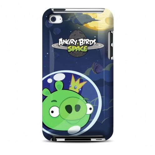Vue Principale de Coque Angry Birds Gear4® King Pig Space iPod Touch 4