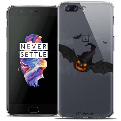 "Coque Crystal Gel OnePlus 5 (5.5"") Extra Fine Halloween - Chauve Citrouille"