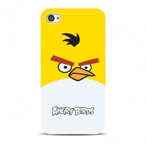 Vue Principale de Coque Angry Birds Gear4® Yellow Bird iPhone 4