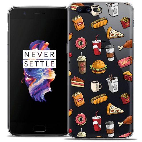 "Coque Crystal Gel OnePlus 5 (5.5"") Extra Fine Foodie - Fast Food"