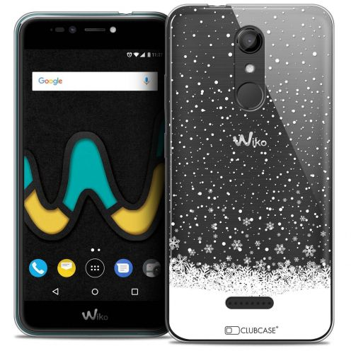 "Coque Crystal Gel Wiko U Pulse (5.5"") Extra Fine Noël 2017 - Flocons de Neige"