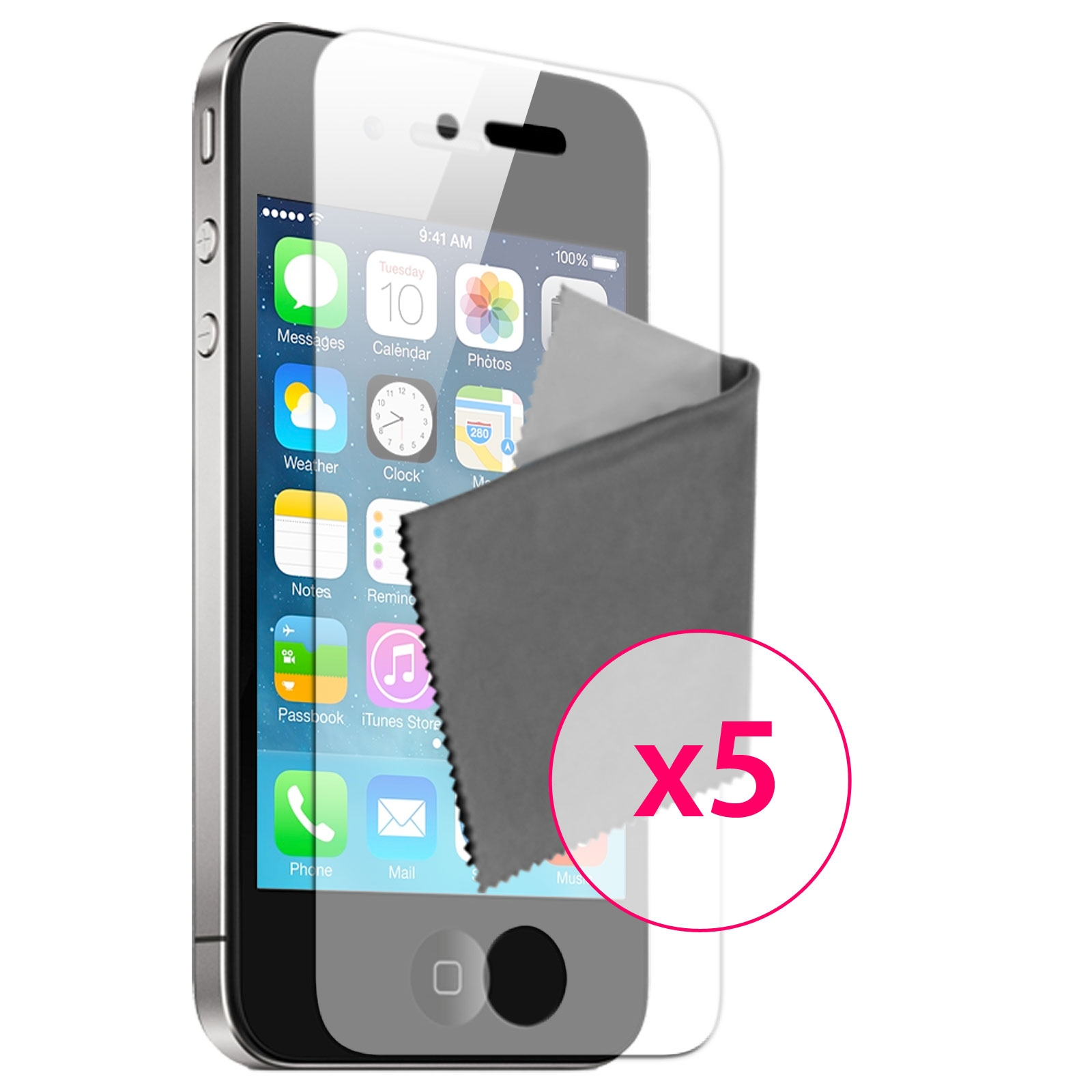 5 films de protection hq miroir iphone 4 4s for Application miroir pour iphone