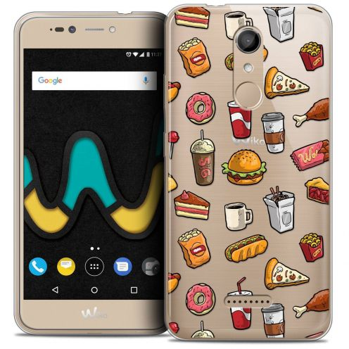 "Coque Crystal Gel Wiko U Pulse (5.5"") Extra Fine Foodie - Fast Food"