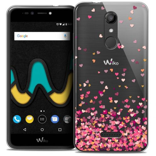 "Coque Crystal Gel Wiko U Pulse (5.5"") Extra Fine Sweetie - Heart Flakes"