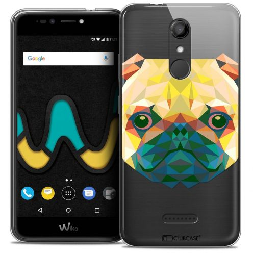 "Coque Crystal Gel Wiko U Pulse (5.5"") Extra Fine Polygon Animals - Chien"