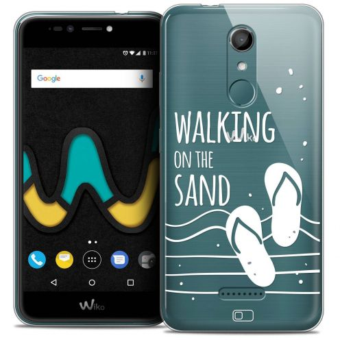 "Coque Crystal Gel Wiko U Pulse (5.5"") Extra Fine Summer - Walking on the Sand"