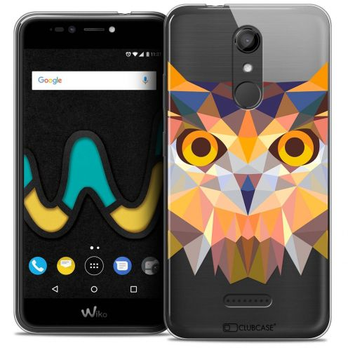"Coque Crystal Gel Wiko U Pulse (5.5"") Extra Fine Polygon Animals - Hibou"