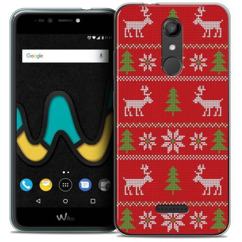 """Coque Crystal Gel Wiko U Pulse LITE (5.2"""") Extra Fine Noël 2017 - Couture Rouge"""